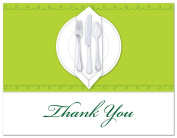50 Dinner Party Tablecloth Thank You Cards