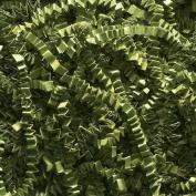 0.2kg Crinkle Cut Paper Shred - Olive Green