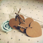Mimgo Store 100Pcs Kraft Paper Heart-shaped Hang Tags Wedding Party Favour Label Price Cards