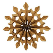 Pack of 24 Natural Brown Kraft Geometric-Cut Tissue Fan Hanging Decorations 30cm