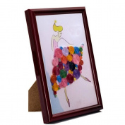 Colourful Quilling Paper Craft Frame DIY Collection Home Decoration