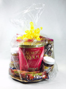 4 Clear Gusset Style Basket Bags 60cm x 60cm x 20cm