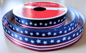 Stars and Stripes Flag pattern 1.6cm . x 3.7m Celebrate It 100% Polyester Decorative Ribbon - Great for 4th of July!