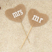 Hosaire Party Mr Mrs Pull Flag European Wedding Photo Booth Decoration