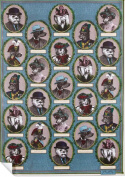 "Chase and Wonder ""Aristocratic Dogs"" Rolled Gift Wrap Paper"