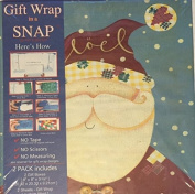 Gift Wrap in a Snap Santa Claus & Snowman- Includes 2 Gift Boxes and 2 Sheets of Gift Wrap- 20cm x 20cm