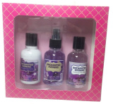 Purple Orchid 3 Piece Bath and Body Gift Set