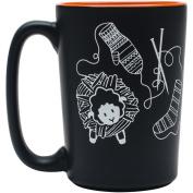 Knit Happy Scribbles Mug 300ml-Orange