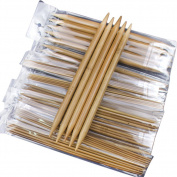 Whitelotous 75pcs 20cm Double Pointed Carbonised Bamboo Knitting Needles