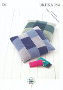 Double Knitting DK Pattern for Easy Knit Cushion Covers Glasses Case & Mobile Cover