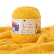 LongMing 21Nm/3 3-ply Cashmere Blended Yarn, Soft and Warm, Crafts, Knitting, High Elasticity, Anti-pilling. 12 Colours