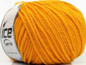 Lot of 3 x 100gr Skeins ICE YARNS Superwash Wool Bulky Dark Yellow