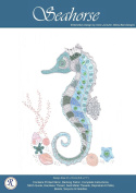 Silver Seahorse Embroidery Needlework Kit