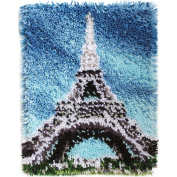 Wonderart Eiffel Tower Latch Hook Kit, 38cm x 50cm