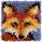 Wonderart Mr. Fox Latch Hook Kit, 20cm x 20cm