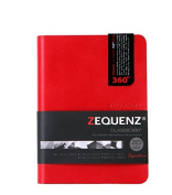 Zequenz Classic 360 Soft Bound Journal Writing Notebook Small Red 10cm x 14cm 200 sheets / 400 pages Ruled/Lined premium paper