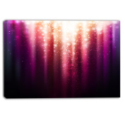 "Designart PT6254-80cm - 41cm Purple with Magic Light"" Canvas Artwork, Purple, 80cm x 41cm"