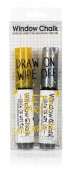 NPW NP32116 Window Chalk Marker Pen Duo, Silver/Gold