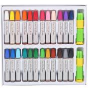 MyLifeUNIT Oil Pastels Set, 24 Colours Pack, Pastel Holders
