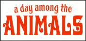 Wall Decor Plus More A Day Among The Animals Wall Vinyl Sticker Quote for Nursery or Kid's Room Decor 23W x 9H - Orange Orange