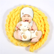 Newborn Wool Twist Rope Backdrop Casual Fashion Handmade Infant Blanket Baby Photography Prop