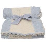 Barefoot Dreams Boys Blue Cozychic Stripe Receiving Blanket size 80cm x 32