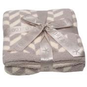 Barefoot Dreams Boys Girls Brown Cozychic Chevron Stripe Blanket size 80cm x 32
