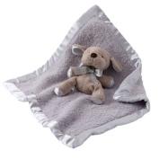 Barefoot Dreams Baby Boys Blue Cozychic Toy Blanket size 38cm x 17