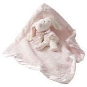 Barefoot Dreams Baby Girls Pink Cozychic Toy Blanket size 38cm x 17