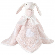 Barefoot Dreams Baby Girls Pink Cozychic Toy Buddie Blanket size 41cm x 16