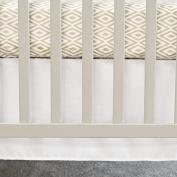70cm x 130cm , Pure White Flat Panel Cotton Crib Skirt
