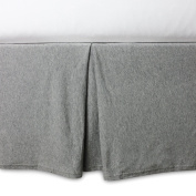 140cm x 70cm , Soft, Organic Cotton Knit Terry Crib Skirt in Heather Grey
