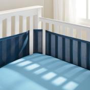 Easy-Wrap Design Breathable Mesh Crib Liner in True Navy