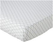 100% Cotton, Dove Grey Trellis Crib Sheet, 130cm x 70cm