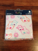NEW Falls Creek Baby Girl Fitted Crib Sheet - Elephant Flowers