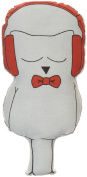100% Cotton, Red Rebby Cutout Pillow