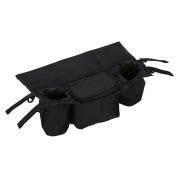 Luoke Universal Stroller Organiser and hook and loop Stroller Accessories Pack
