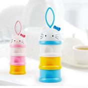 BW Formula Baby Milk Powder Dispenser Non-Spill Snack Storage Container BPA Free Blue
