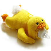 Lovely Cartoon Soft Yellow Duck Baby Feeding Bottle Protector Warmer Cover Bag Holder