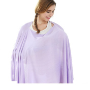 Mother's Arms Multifunctional Nursing Poncho Breastfeeding shawl Fashion Scarf (Purple