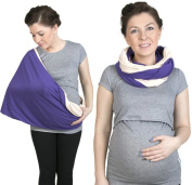 Nursing scarf, Infinity Scarf, 2 in 1 Nursing Cover, Nursing shawl, Breastfeeding cover, Purple / Peach