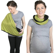 Nursing scarf, Infinity Scarf, 2 in 1 Nursing Cover, Nursing shawl, Breastfeeding cover, Olive / Black