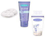 Evenflo Advanced Nursing Pads with Lansinoh HPA Lanolin and Breastmilk Storage Bags