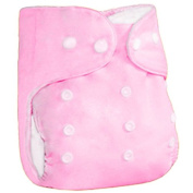 SIO 5pcs Little Baby Washable Reusable Leakproof Cloth Nappies Breathable Adjustable Snap