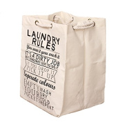 Enjelw Foldable Drawstring Bag for Clothes Sundries Organiser Pouch Jute Sack