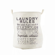 Enjelw Home Storage Basket for Dirty Clothes Organiser Pouch Laundry Bucket With Handle