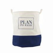 Enjelw Cotton Linen Storage Basket For DIrty Clothes Home Organiser Bin Organisation Bucket Laundry Tote Bag