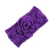 Novolix Infant Hair Band Elastic Knit Headbands Soft Crochet Wool Head Wrap with Lovely Flower