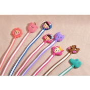 Adorable family of cute animal long winder cable management hub random