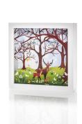 Marmelada Forest Family Story In a Frame Nightlight Baby Nursery Room Décor Lamp